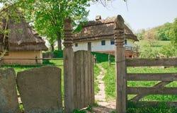 Ukrainian old log hut Royalty Free Stock Images