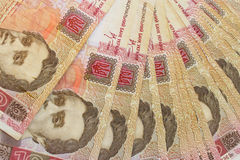 Ukrainian one hundred-hryvnia notes. Some Ukrainian one hundred-hryvnia notes Royalty Free Stock Images