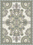 Ukrainian Oriental Floral Ornamental Carpet Design Stock Photography