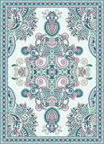 Ukrainian Oriental Floral Ornamental Carpet Design. Vector illustration Stock Photo