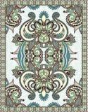 Ukrainian Oriental Floral Ornamental Carpet Design Royalty Free Stock Photography