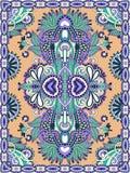 Ukrainian Oriental Floral Ornamental Carpet Design Royalty Free Stock Photo