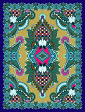 Ukrainian Oriental Floral Ornamental Carpet Design Royalty Free Stock Photos