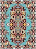 Ukrainian Oriental Floral Ornamental Carpet Design Stock Photo