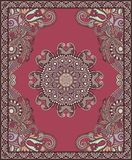 Ukrainian Oriental Floral Ornamental Carpet Design Royalty Free Stock Image