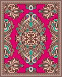 Ukrainian Oriental Floral Ornamental Carpet Design Stock Images