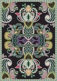 Ukrainian Oriental Floral Ornamental Carpet Design Stock Photos