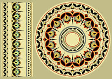 Ukrainian ornament. Ukrainian folk art. Ornament on ceramic pottery royalty free illustration