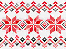 Ukrainian ornament knitting seamless texture Stock Photography