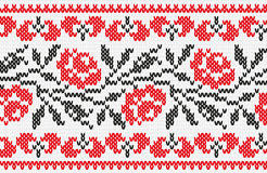 Ukrainian ornament knitting seamless texture Stock Image