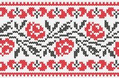 Ukrainian ornament knitting seamless texture Stock Image
