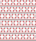 Ukrainian ornament. Seamless pattern. Ukrainian red ornament, seamless pattern. Vector illustration Royalty Free Stock Photos