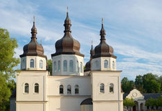 Ukrainian Orthodox Church and Domes Stock Image