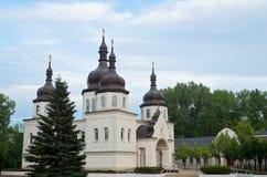 Ukrainian Orthodox Church Entrance and Courtyard Royalty Free Stock Photos