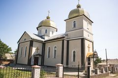 Ukrainian Orthodox Church of Kyiv Patriarchate on a sunny summer day. Royalty Free Stock Images