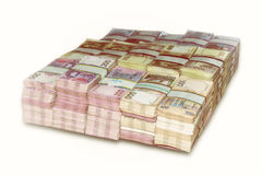 Ukrainian packs of money the stacked Stock Images