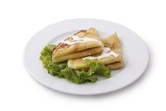 Ukrainian pancake. On white background Stock Photo