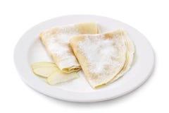 Ukrainian pancake. On white background Royalty Free Stock Photography