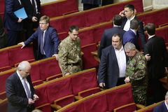 The Ukrainian Parliament resumes work with new structure 27 November 2014 Stock Image