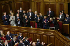 The Ukrainian Parliament resumes work with new structure 27 November 2014 Royalty Free Stock Photo
