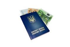 Ukrainian passport closeup Stock Image