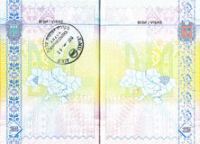 Ukrainian passport with stamp of Israel Royalty Free Stock Photography