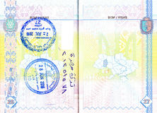 Ukrainian passport with stamps of Jordan Royalty Free Stock Photography