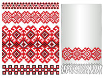 Ukrainian pattern embroidery. There is a scheme of ukrainian pattern for embroidery Royalty Free Stock Image