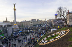 Ukrainian people demand the resignation of the government and early voting Royalty Free Stock Photo