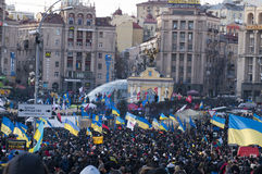 Ukrainian people demand the resignation of the government and early voting Stock Images