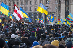 Ukrainian people demand the resignation of the government and early voting Royalty Free Stock Photos
