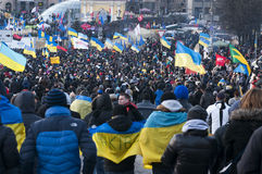 Ukrainian people demand the resignation of the government and early voting Royalty Free Stock Images