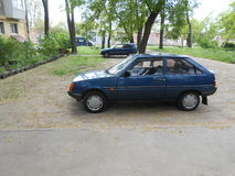 Ukrainian people`s car `ZAZ Tavria`. Modified DAEWOO in 2000s in Zaporizhia Automobile Plant Stock Photo
