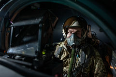 Ukrainian pilots completed air military exercises Royalty Free Stock Photos