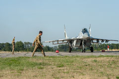 Ukrainian pilots completed air military exercises Royalty Free Stock Photo