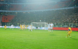 Ukrainian player Oleksandr KUCHER struck free-kick Stock Photo