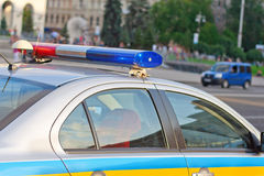 Ukrainian police car Royalty Free Stock Photo