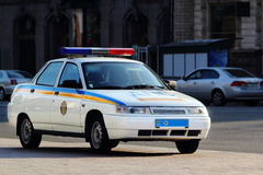 Ukrainian police car Stock Photography