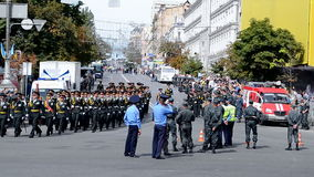 Ukrainian police, military parade, Independence Day, Ukraine, Stock Photos