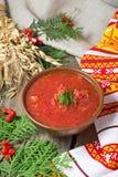 Ukrainian and polish traditional red borsch Royalty Free Stock Image