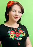 Ukrainian with poppy Stock Photos