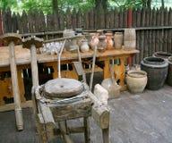 Ukrainian potter's crockery Stock Photography