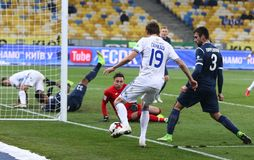 Ukrainian Premier League: Dynamo Kyiv v Olimpik in Kyiv Stock Images