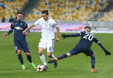 Ukrainian Premier League: Dynamo Kyiv v Olimpik in Kyiv Stock Photos