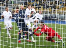 Ukrainian Premier League: Dynamo Kyiv v Olimpik in Kyiv Stock Photo