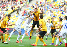 Ukrainian Premier League: Dynamo Kyiv vs Oleksandria Stock Images