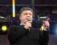 Ukrainian presidential candidate Petro Poroshenko speaks at elec Stock Photos