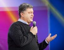 Ukrainian presidential candidate Petro Poroshenko speaks at elec Royalty Free Stock Photo