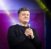 Ukrainian presidential candidate Petro Poroshenko speaks at elec Royalty Free Stock Images