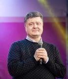 Ukrainian presidential candidate Petro Poroshenko speaks at elec Royalty Free Stock Photos
